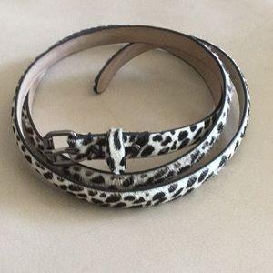 NWOT Ann Taylor faux leopard print belt